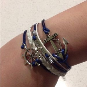 Multilayer Bracelet Anchor Courage NEW